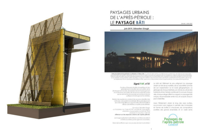 Paysages urbains de l'après-pétrole – Mazan – Le paysage bâti – 2019