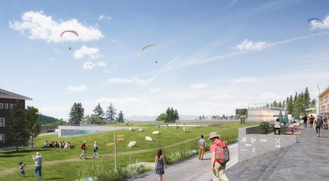 Dự án quy hoạch làng Olympic trên núi Chamrousse thuộc dãy Alps, nước Pháp