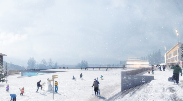 Planning project for the Olympic city of Chamrousse in the Alps France