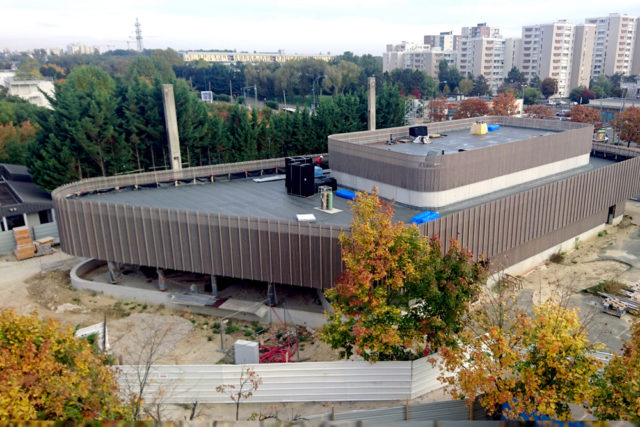 "Construction site of the new theater of  ""Robert Doisneau highschool"" – Corbeil-Essonnes, France"