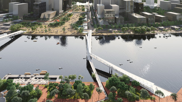 cầu đi bộ trên sông sài gòn