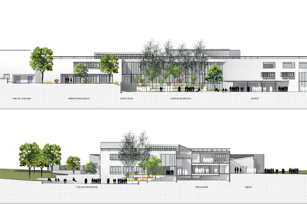 Restructuration d'un collège – Champs-sur-Marne (77)