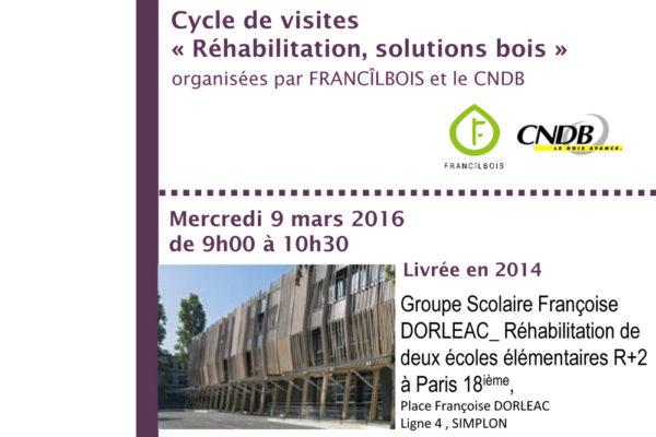 Fin de chantier, visite du groupe scolaire F. Dorléac avec le CNDB
